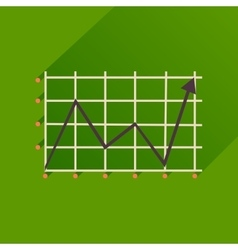 Flat icon with long shadow economic graph vector