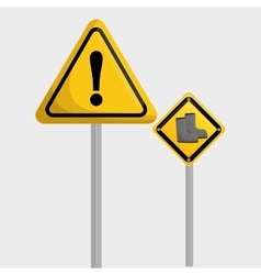 Industrial security design road sign and alert vector