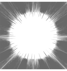 Comic Book Grey and White Radial Lines Background vector image