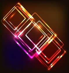 Abstract neon background with rounded rectangles vector