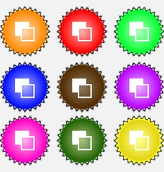 Active color toolbar icon sign A set of nine vector image vector image