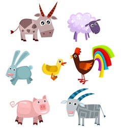 animal set vector image