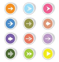 arrow color vector image