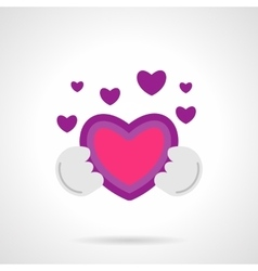 Be my Valentine icon flat bright color vector image vector image