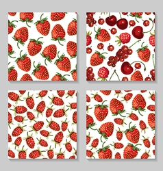 berry pattern set vector image vector image