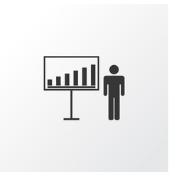 Business demonstration icon symbol premium vector