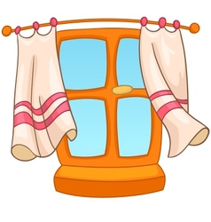 cartoon home window vector image