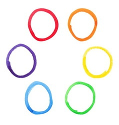 Colorful watercolor circles set vector image vector image