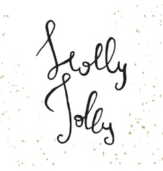 Decorative christmas lettering vector
