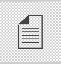 Document icon flat isolated documents symbol vector