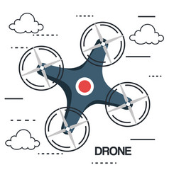 Drone photography and video created with camera vector