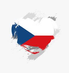 Flag of czech republic vector