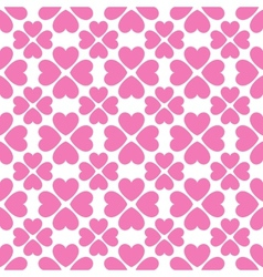 Floral seamless pattern with heart shapes vector image vector image