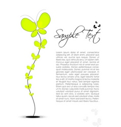 floral text template vector image