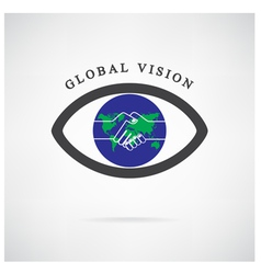 Global vision sign vector