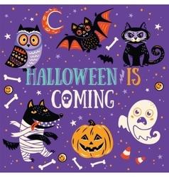 Halloween is coming vector image