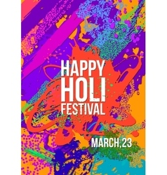 Holi festival poster template vector image vector image