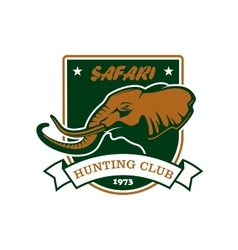 Hunting sport club symbol Safari hunt shield sign vector image vector image
