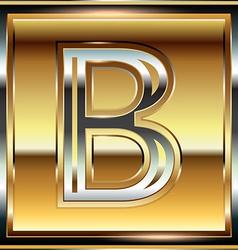 Ingot font letter b vector