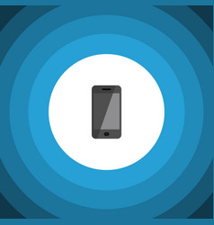 isolated smartphone flat icon telephone vector image