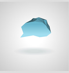 low-polygon cloud icon for the dialog vector image
