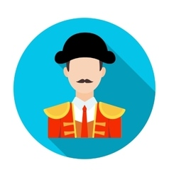 Matador icon in flat style isolated on white vector