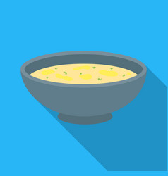 miso soup icon in flate style isolated on white vector image vector image
