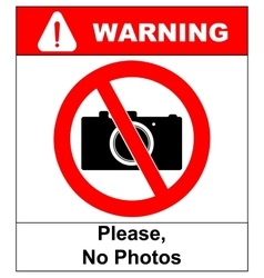 No photo camera sign isolated on white vector image
