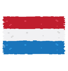 pixelated flag of the netherlands vector image