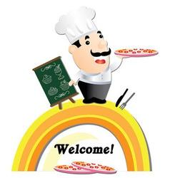 pizza menu vector image