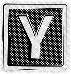 Polka Dot Font LETTER Y vector image vector image