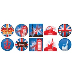 Set of england vector image vector image
