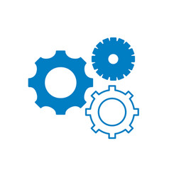 Silhouette gears engineering industry process vector