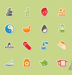 Spa simply icons vector