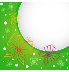 Spring template with butterflies vector