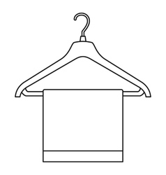 Hanger with cloth icon outline style vector
