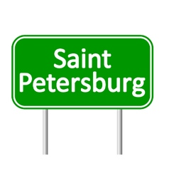 Saint petersburg road sign vector