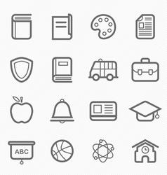 education symbol line icon vector image