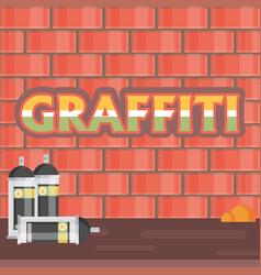 Creative graffiti flat style vector