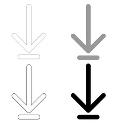 Down arrow or load symbol the black and grey vector