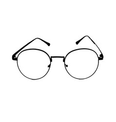 black glasses on isolated vector image