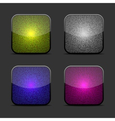 Collection of glow icon templates vector