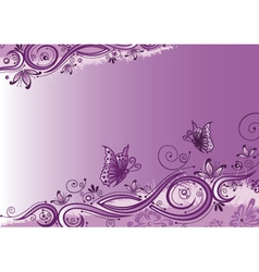 Flowers butterflies background vector image