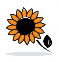 abstract sunflower vector image