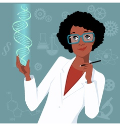 Woman in science vector