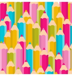 Pencils seamless pattern background vector