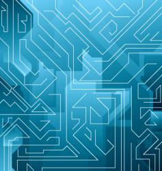 electric blue maze vector image