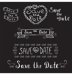 Save the date wedding invitation hand drawn vector