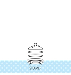 Steamer icon kitchen electric tool sign vector