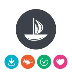 Sail boat icon ship sign vector